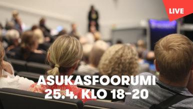 Asukasfoorumi Rajatorpan koululla - seuraa keskustelua tallenteesta