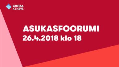 Asukasfoorumi Tikkurilassa – osallistu keskusteluun