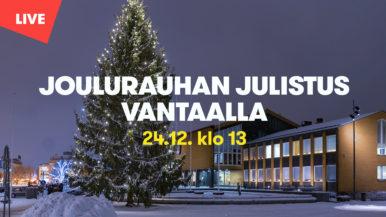 Joulurauhan julistus Vantaalla 24.12.